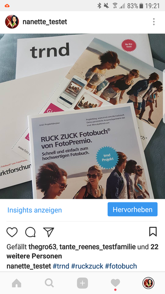 Instagram post - RUCK ZUCK Fotobuch®