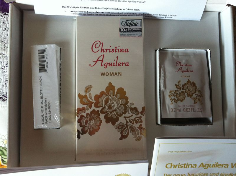Christina Aquilera WOMAN Testpaket - Christina Aguilera WOMAN