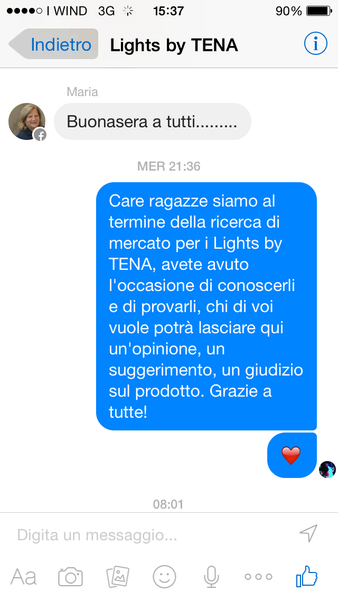 gruppo fb Lights by TENA - Lights by TENA